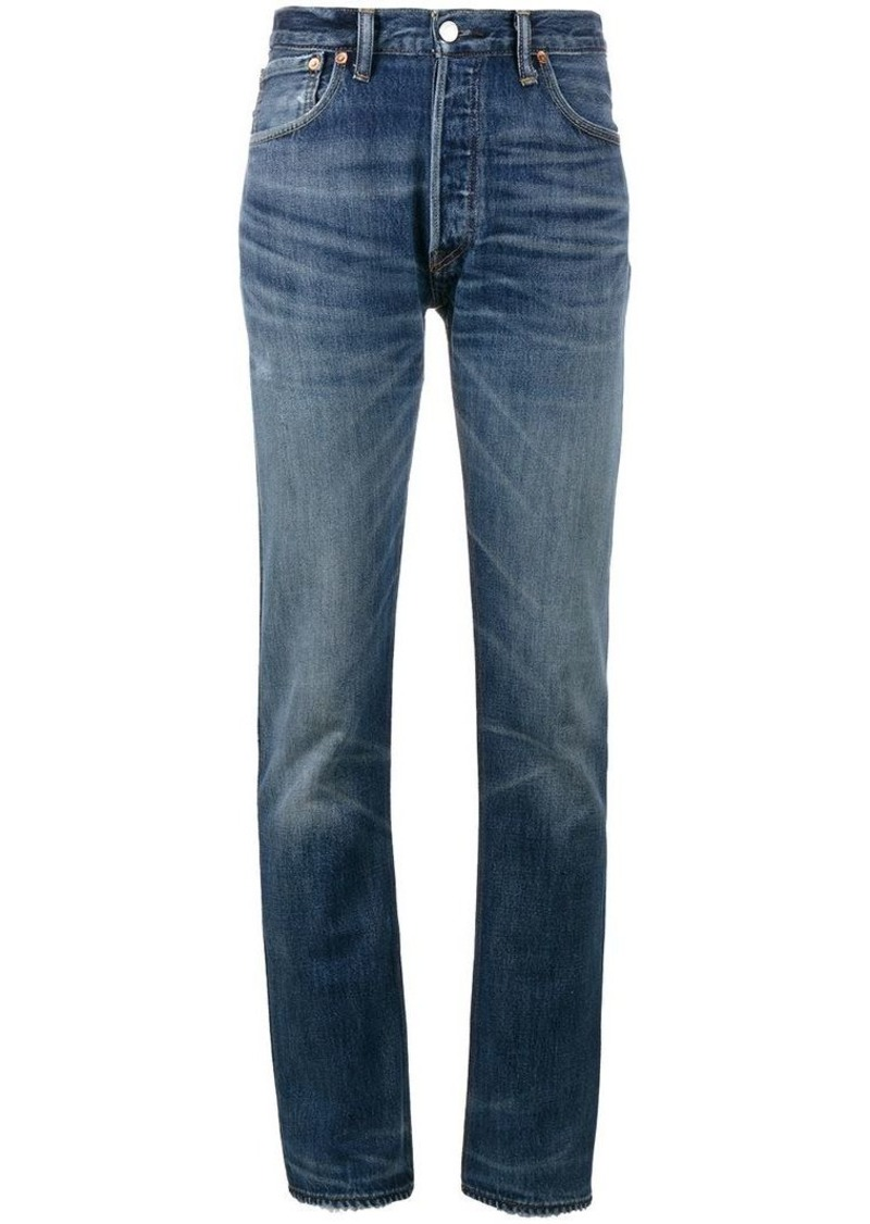 Re/Done X Cindy Crawford High-Rise Straight Leg Jeans