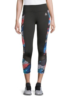 Reebok Aspire Printed Capri Leggings