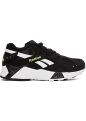 Reebok Black & White Aztrek Sneakers