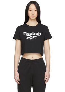 Reebok Black Classics Vector Crop T-Shirt