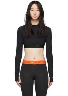 Reebok Black Crop Long Sleeve T-Shirt
