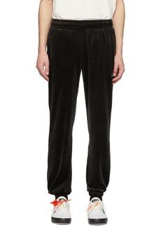 Reebok Black Velour Vector Lounge Pants