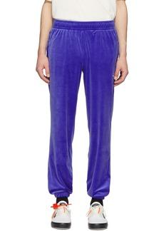 Reebok Blue Velour Vector Lounge Pants