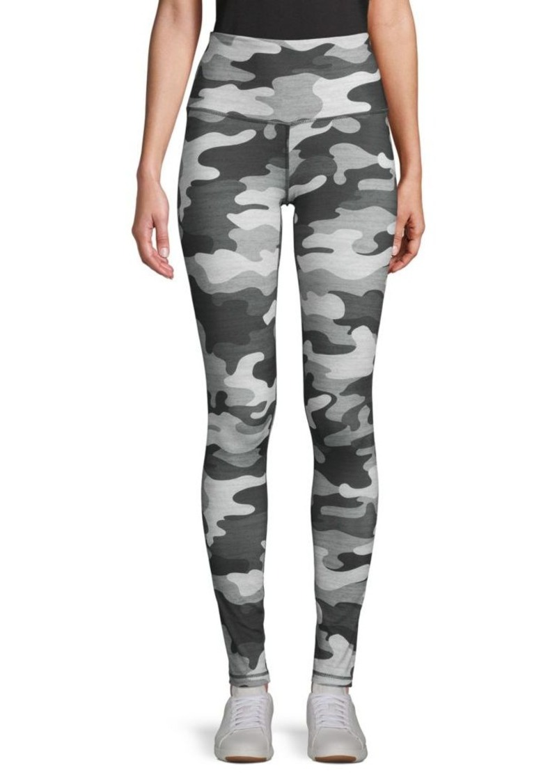 Camouflage-Print Stretch Leggings