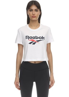 Reebok Cl F Big Logo Cotton T-shirt