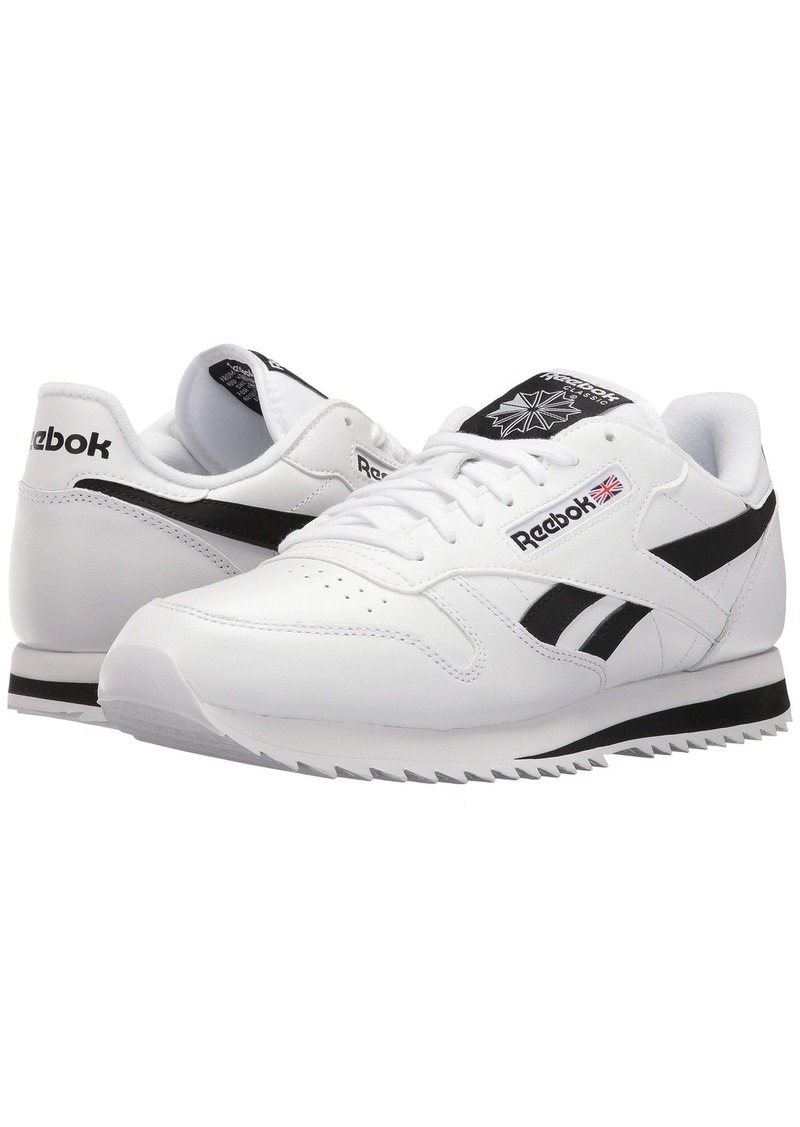 reebok classic leather ripple low bp white black