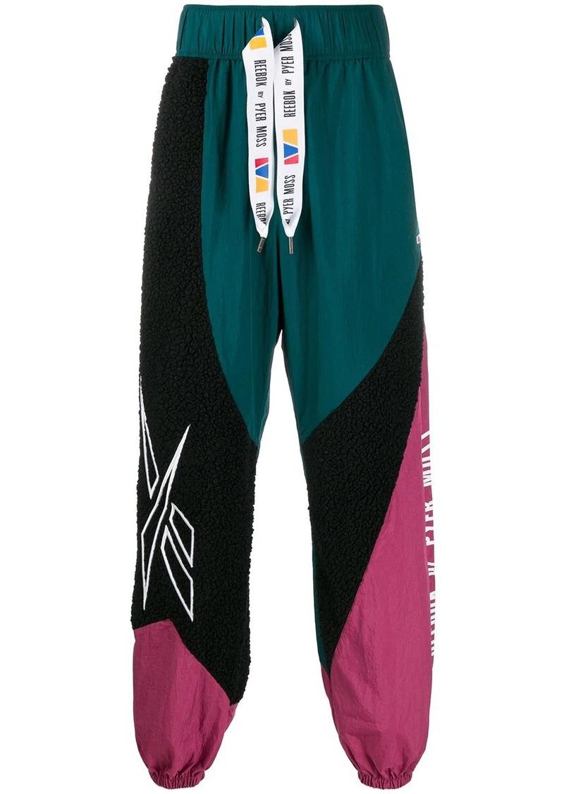 Reebok colour-block track pants