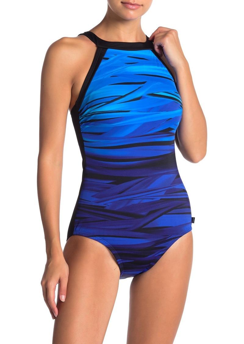 Reebok Core Essence High Neck One-Piece Swimsuit