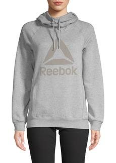 Reebok Cotton-Blend Logo Hoodie