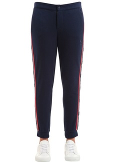 Reebok Cotton Track Pants W/ Logo Side Bands