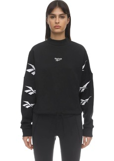 Reebok Cropped Cotton Sweatshirt