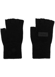Reebok fingerless logo patch gloves