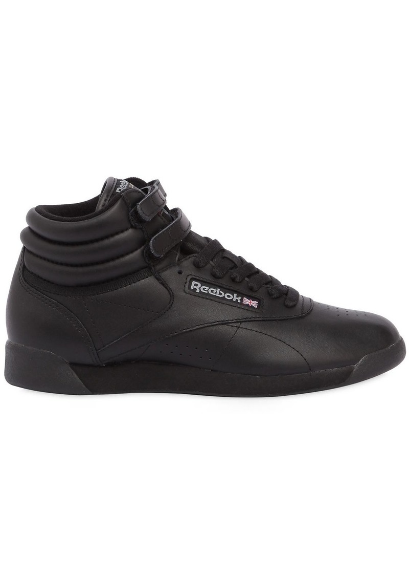 Reebok Freestyle Leather High Top Sneakers