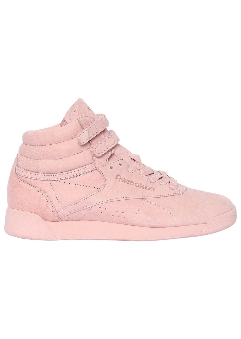 Reebok Freestyle Nubuck High Top Sneakers