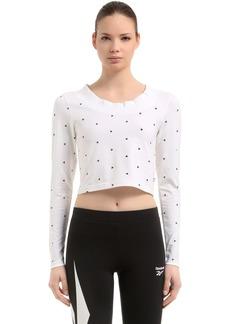 Reebok Gigi Hadid Cotton Cropped T-shirt
