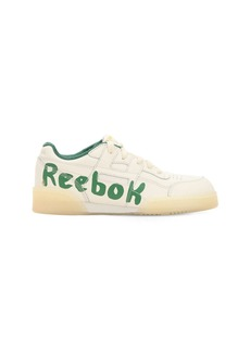 Reebok Graffiti Logo Faux Leather Sneakers
