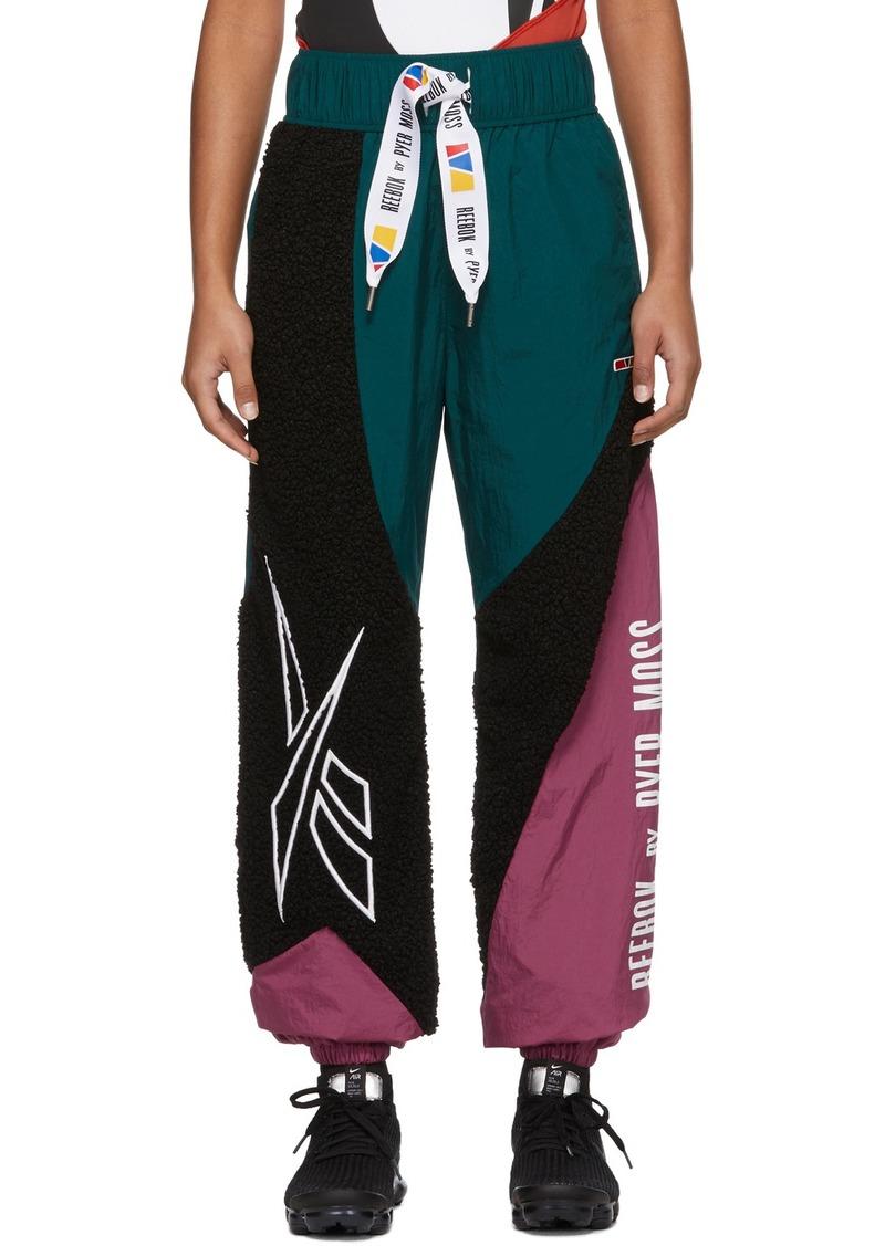 Reebok Green & Black Collection 3 Sherpa Lounge Pants