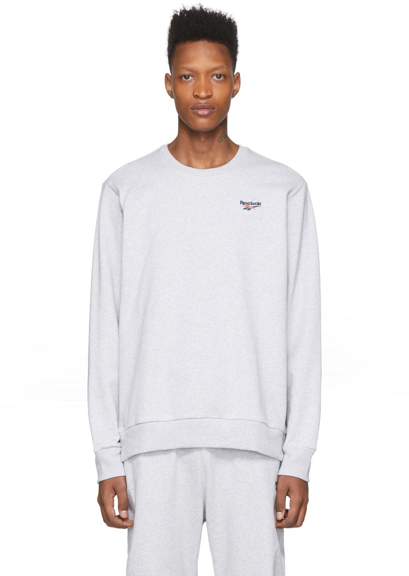 Reebok Grey Small Vector Sweatshirt
