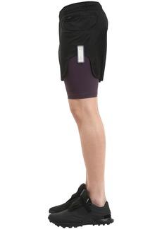 Reebok Layered Crinkle & Stretch Shorts
