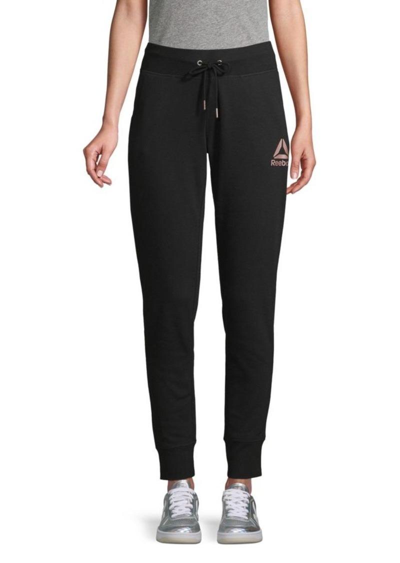 Reebok Logo Cotton-Blend Jogger Pants
