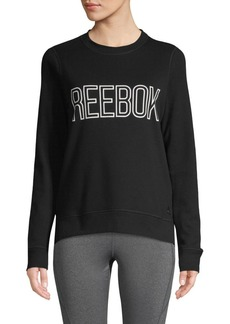 Reebok Logo Cotton-Blend Sweatshirt