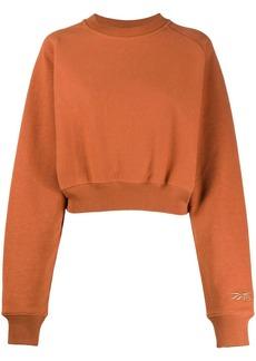 Reebok logo cropped sweatshirt
