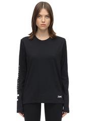 Reebok Logo L/s Cotton Jersey T-shirt