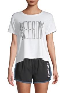 Reebok Logo Outline Crop Tee