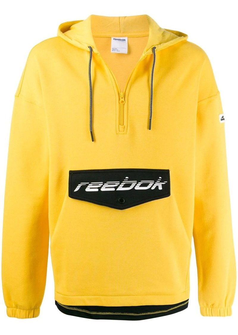 Reebok logo pocket zipped sweatshirt