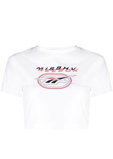 Reebok logo-print cropped T-shirt