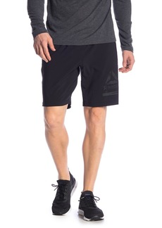 Reebok Logo Speedwick Solid Athletic Shorts