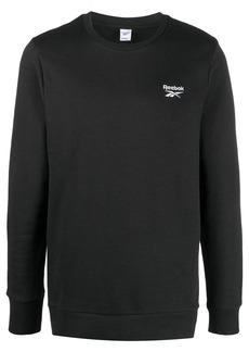Reebok long sleeve logo print top