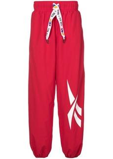 Reebok loose fit logo track pants