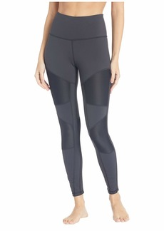 Reebok Lux Ribbed High-Rise Tights-Rib