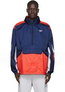 Reebok Navy & Orange Team Track Jacket