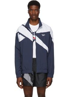 Reebok Navy & White Vector Track Jacket