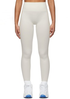 Reebok Off-White & Beige Seamless Leggings