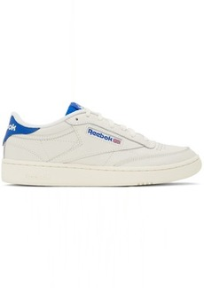 Reebok Off-White & Blue Club C 85 Sneakers