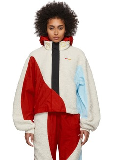 Reebok Off-White & Red Collection 3 Hooded Windbreaker