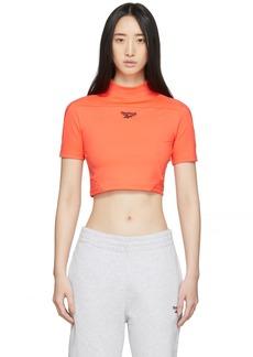 Reebok Orange Classics Crop T-Shirt