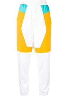 Reebok panelled track style trousers