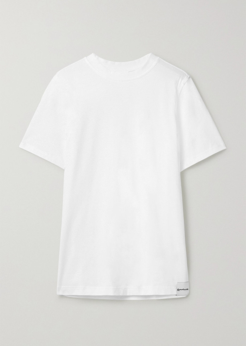 Reebok Printed Cotton-jersey T-shirt