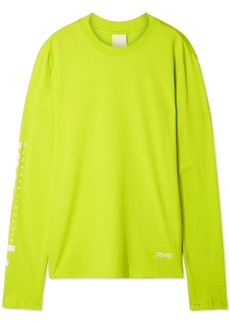 Reebok Printed Neon Cotton-jersey Top