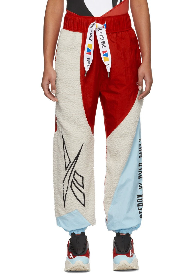 Reebok Red & Off-White Collection 3 Sherpa Lounge Pants
