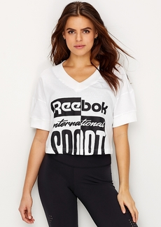 Reebok + Cropped Graphic T-Shirt