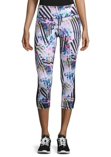 Reebok Abstract-Print Capri Leggings