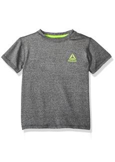 Reebok Big Boys' Athletic T-Shirt Black/Heather Grey-Bbxoxp 8