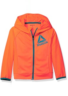 Reebok Big Girls' Active Hooded Zip Up Jacket