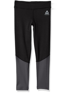 Reebok Big Girls' Active Legging 3013-Black 8/10