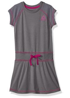 Reebok Big Girls' Casual Dress Med Heather Grey-Cxoxok 8/10
